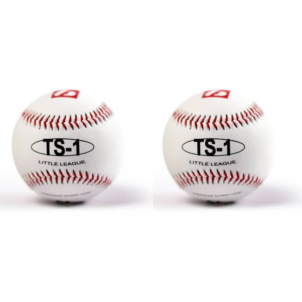 "TS-1 Practice baseballs size 9"", White, 2 pieces"