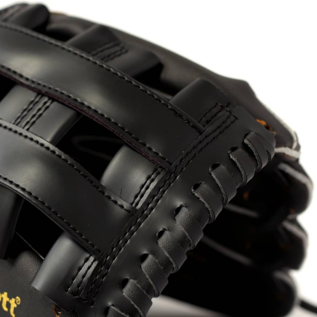 "JL-125 Vinyl baseball glove, Outfield, size 12,5"", Black"