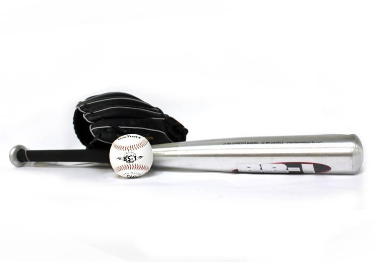 "BGBA-1 Initiation baseball set, senior - Ball, Glove, Aluminum bat (BB-1 32"", JL-120 12"", TS-1 9"")"