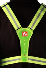 LW-1 Fluorescent vest with LED lights and reflective stripes
