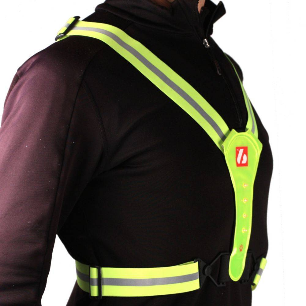 barnett LW-1 Fluorescent vest with LED lights and reflective stripes