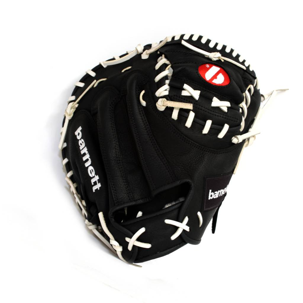 GL-203 Competition catcher baseball glove, genuine leather, adult 34'', Black
