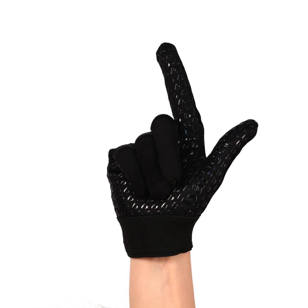 FLGL-02 New generation linebacker football gloves, RE,DB,RB, black