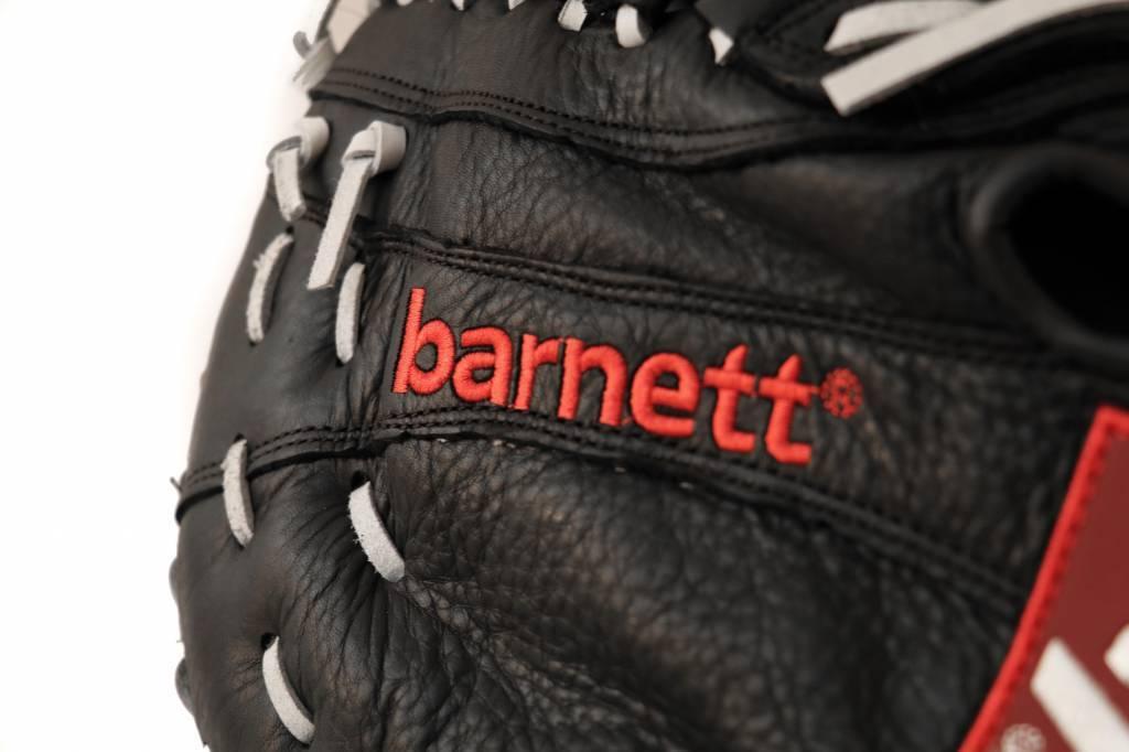 barnett GL-301 reg competition 1er baser baseball glove, genuine leather, adult, black