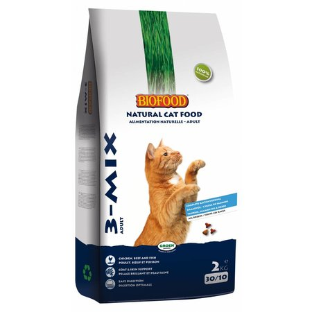 Biofood kattenvoer 3-mix 10 kg