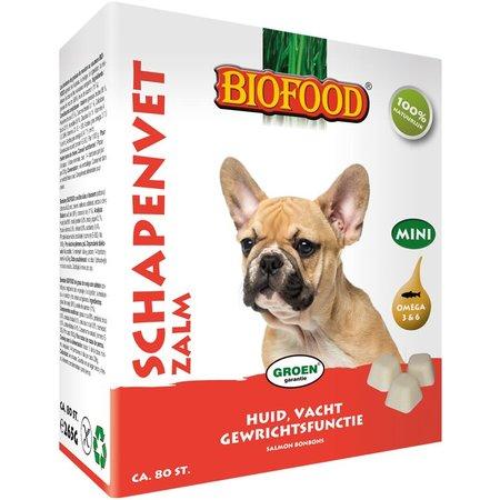 Biofood Schapenvet Mini bonbons Zalm 80 st