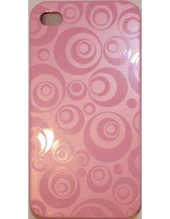 Hard Case Circle Design Pink voor Apple iPhone 4