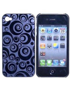 Hard Case Circle Design Zwart voor Apple iPhone 4