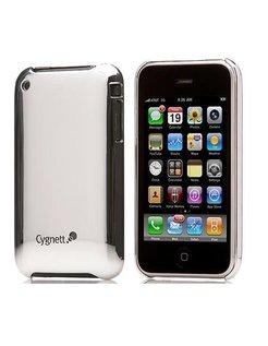 Cygnett Mercury Mirrored Slim Case Zilver voor iPhone 3G/3GS incl. Displayfolie