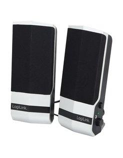 Logilink SP0026 Active Speaker 2.0 Stereo, Black silver