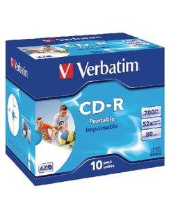 CD-R Verbatim 52x Jewelcase (10) Printable VER7220