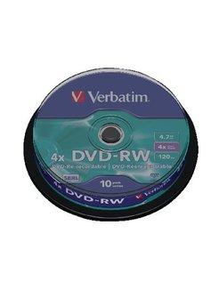 Verbatim DVD-RW 4x SERL Spindle (10) VER7463