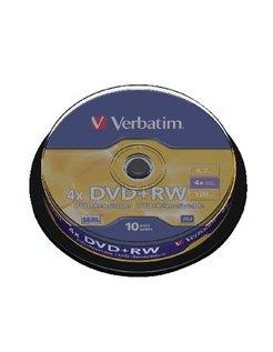 Verbatim DVD+RW 4x SERL Spindle (10) VER7462 43488