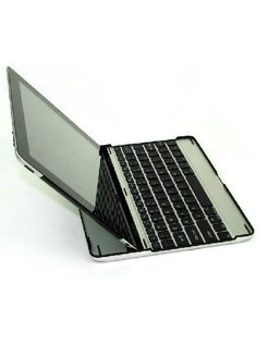 9.7 inch Aluminum Sleeve met Bluetooth toetsenbord voor Apple iPad 2 en 3/4 Zwart [AIPAD23KB]