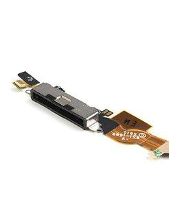 Originele Apple iPhone 4 dock connector met flex kabel, kleur zwart [AIP-4-FD01-OR]