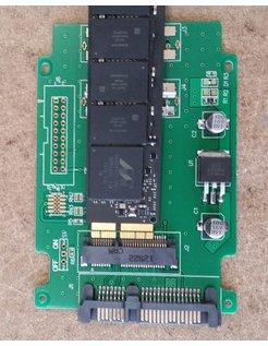 MINI PCI-E/mSATA TO 2.5i SATA3 adapter card [NBT-HDX-MSATA-2.5SATA]