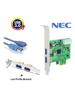 USB 3.0 PCI Express kaart NEC chipset   Low-Profile Bracket