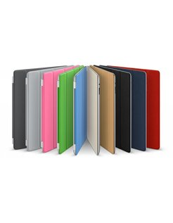 Kunstlederen Sleeve Smart Cover voor iPad 2, iPad 3-Black [SLV-AIPAD23FB]