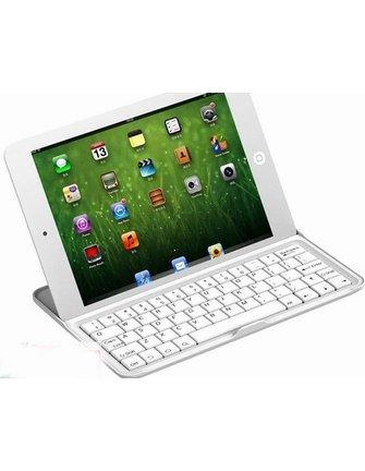 7.9 inch Aluminum Sleeve met Bluetooth toetsenbord voor Apple iPad Mini-White [SLV-AIPADMIKW]