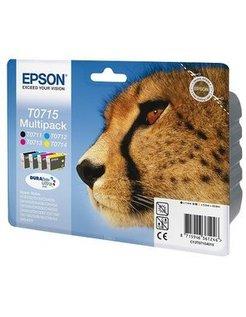 Epson T0715 Zwart en Kleur (4 Pack) (Origineel)