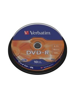 Verbatim DVD-R 16x Spindle (10) VER7438 43523 P0121016