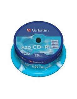 Verbatim CD-R Azo 700MB 52X  25-Spindle 43352