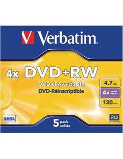 Verbatim DVD+RW 4x Jewelcase (5)