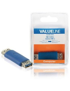 USB 3.0 adapter USB A vrouwelijk - USB A vrouwelijk blauw VLCB61902L