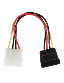 Valueline interne stroom adapterkabel SATA 15-pins vrouwelijk - Molex mannelijk 0,15m veelkleurig