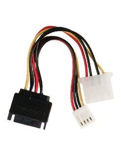 Valueline SATA 15-pin male - Molex female + FDD female