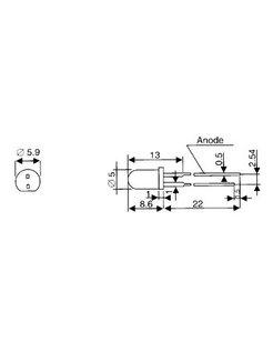 5MM LED BLAUW - HELDER LED5 BSCL-KBR
