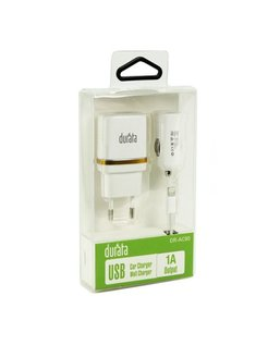 Durata iPhone 3/4/iPad of 5/6/iPad Thuis en Autolader USB 5V/1A 3-in1 DR-AC80