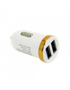 Durata Mini Dubbel USB autolader 5V 2.1A