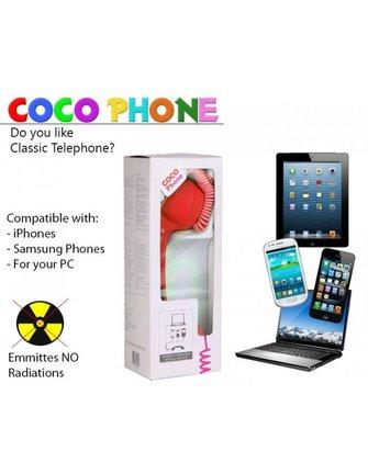 Coco Retro Telefoonhoorn voor Smartphone Tablet of Laptop BXL-RT10