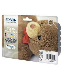 Epson T0615 Zwart en Kleur (4-Pak) (Origineel)