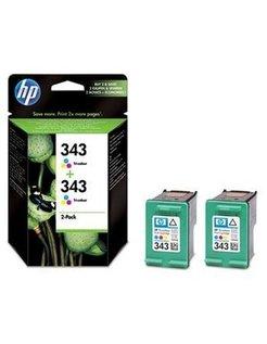 HP 343 Kleur (2 Pack) (Origineel)