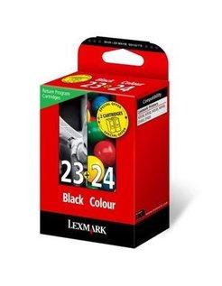Lexmark 23 + 24 Zwart en Kleur (2 Pack) (Origineel)