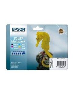 Epson T0487 Zwart en Kleur (6 Pack) (Origineel)