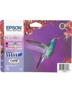 Epson T080740 Multipack Zwart en Kleur (6-Pak) (Origineel)