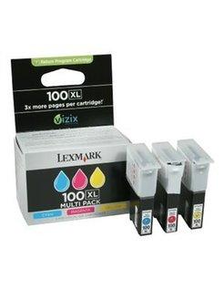 Lexmark 100 XL Kleur (3 Pack) (Origineel)
