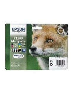 Epson T1285 Zwart en Kleur (4-Pak) (Origineel)