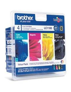 Brother LC-1100 Zwart en Kleur (4-Pack) (Origineel)