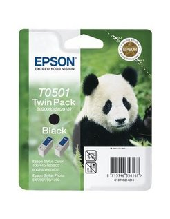 Epson T0501 Zwart (2 Pack) (Origineel)