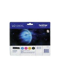 Brother LC-1280XL Zwart en Kleur (4-Pack) (Origineel)