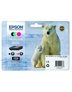 Epson 26XL/T2636 Zwart en Kleur (4-Pak) (Origineel)