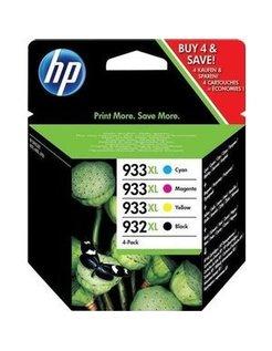HP 932 XL en 933 XL Zwart en Kleur (4-Pak) (Origineel)