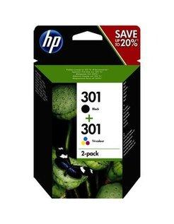 HP 301 Zwart en Kleur (2-Pack) (Origineel)