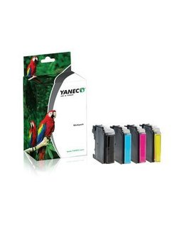 Yanec LC-223 Zwart en Kleur (4-Pack) (Brother)