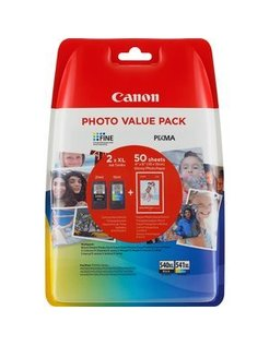 Canon PG-540XL/CL541XL Zwart en Kleur Photo Value Pack