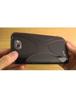 Jibi X-Shaped TPU Case for Samsung Galaxy Note 2 N7100 Zwart P0122379